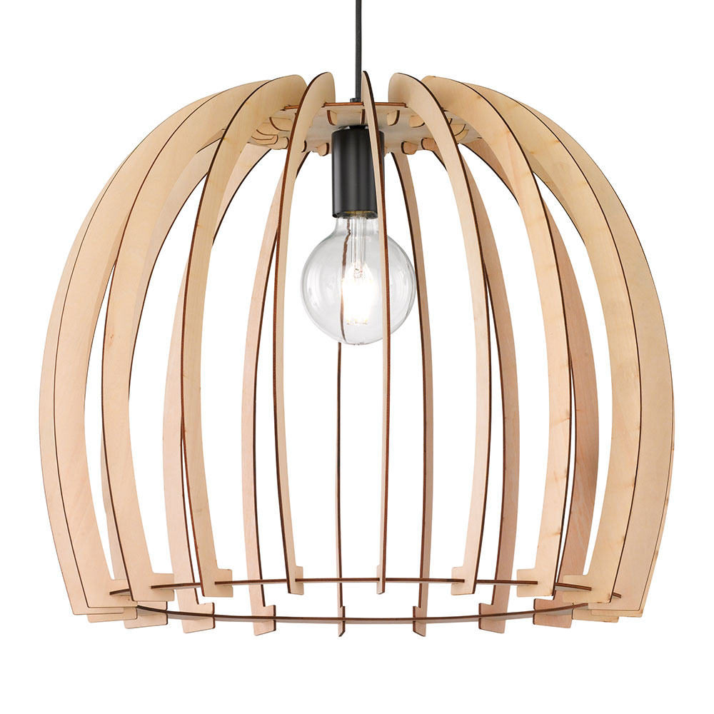 Medium Wood Slat Pendant