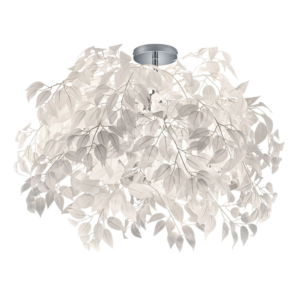 Leavy Large White Leaf Ceiling Light