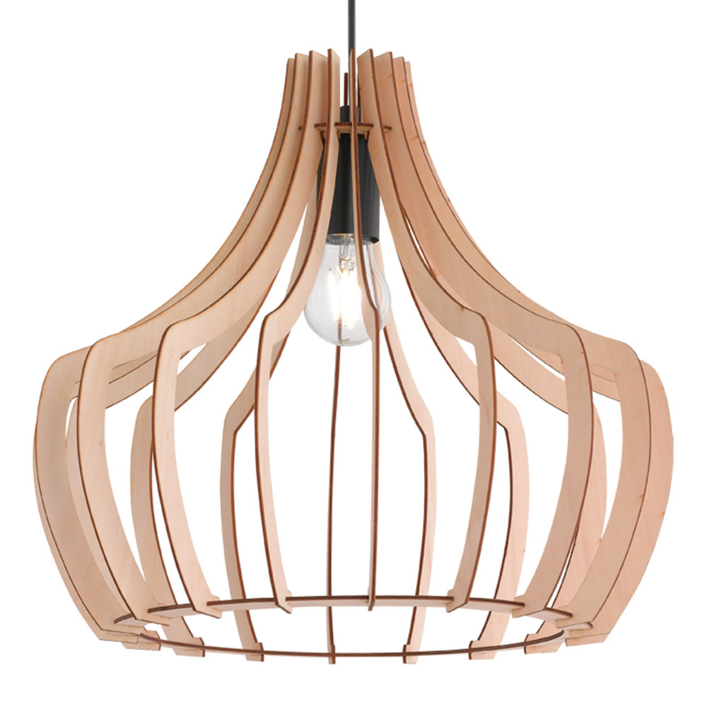 Wood Slat Pendant