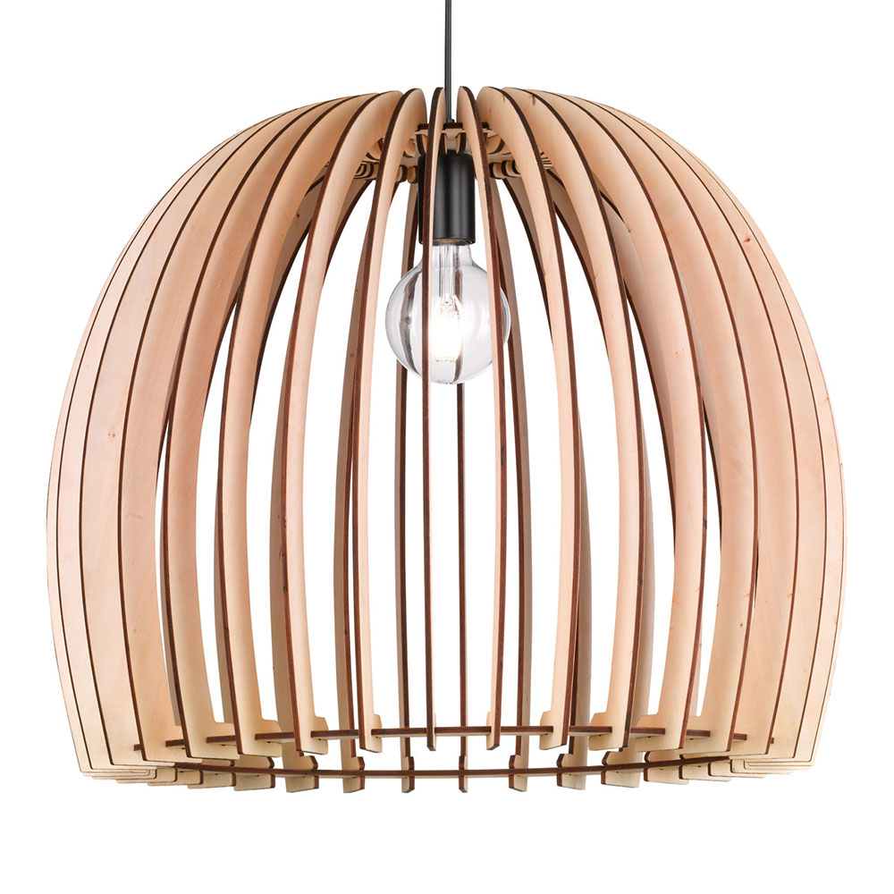 Large Wood Slat Pendant
