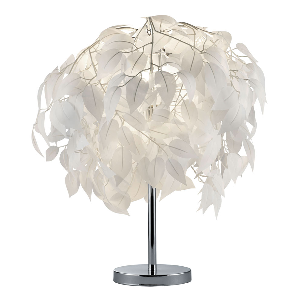Leavy White Leaf Table Lamp