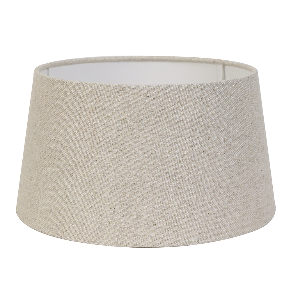 Large Livigno Round Natural Textile Shade
