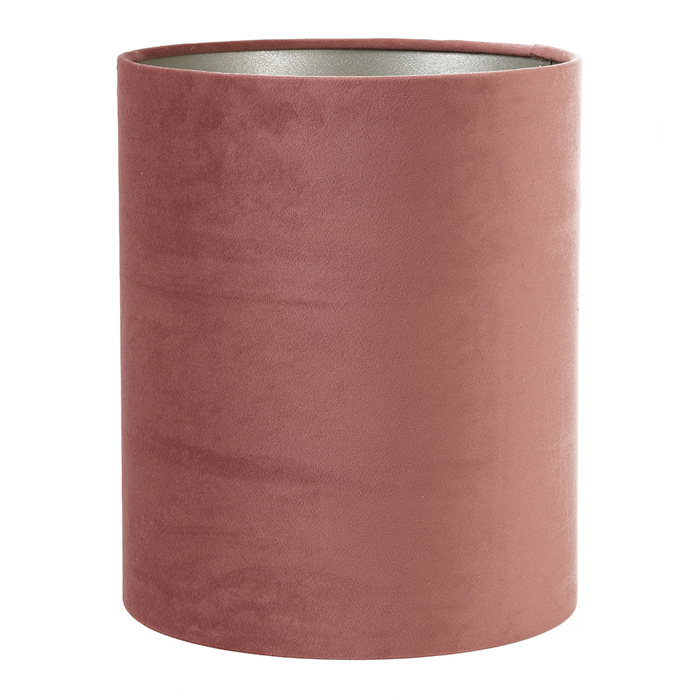 Tall Velour Cylinder Textile Shade