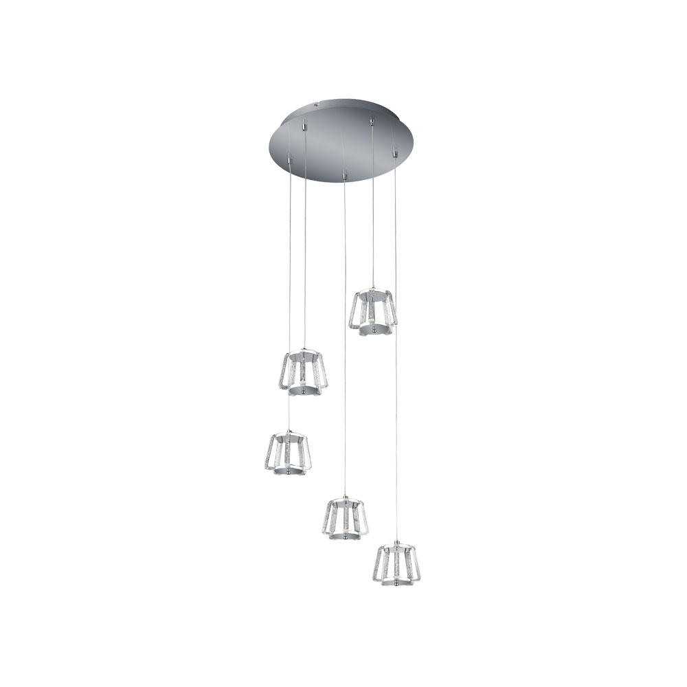Quirl Five Lamp Whisk LED Pendant