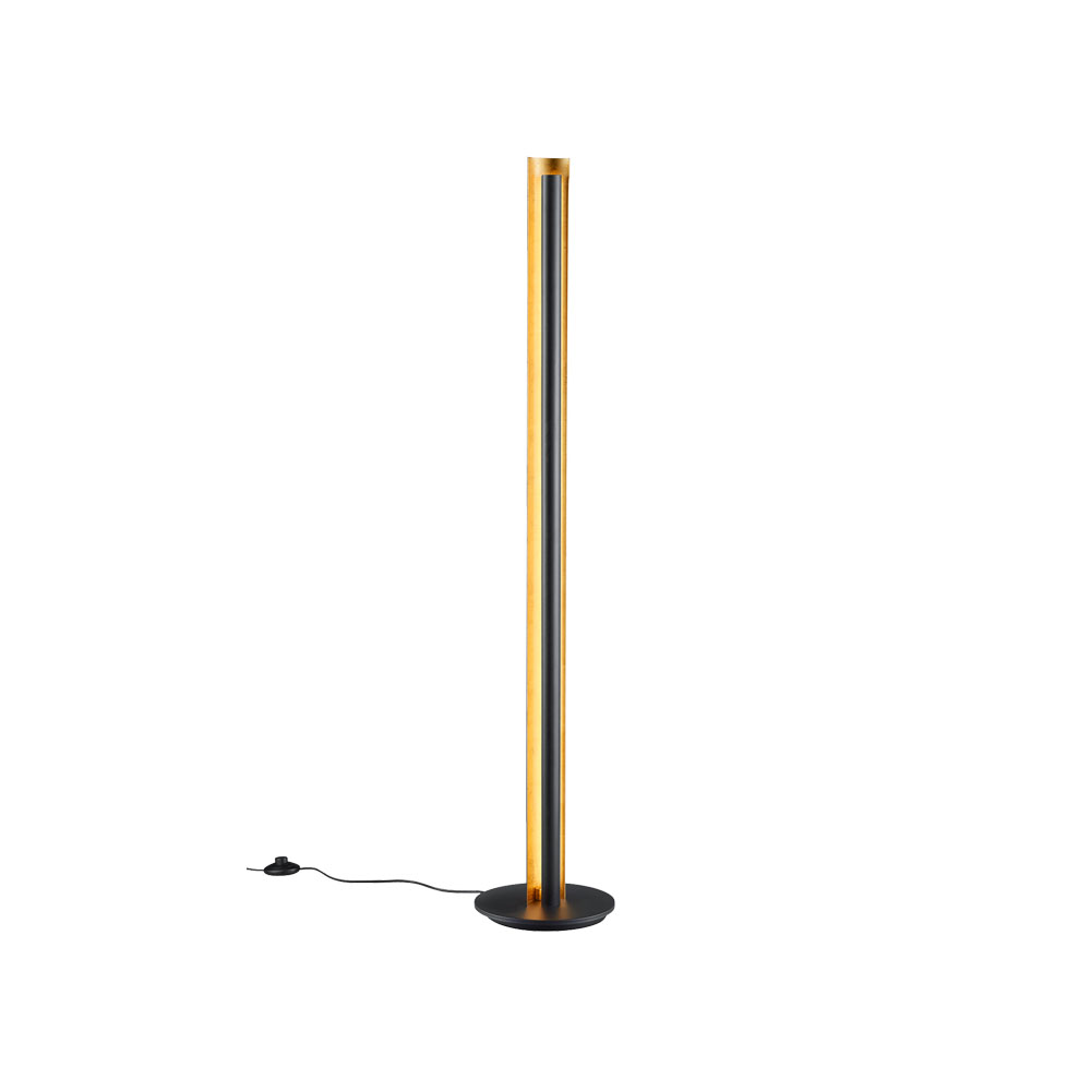 Texel Black & Gold LED Floor Lamp