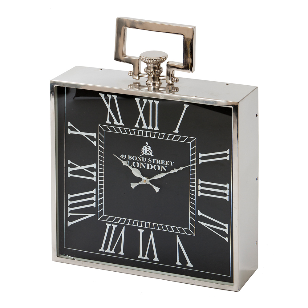 London Black & Nickel Clock