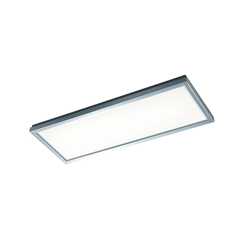 Lucas Brushed Aluminium Rectangular LED Ceiling Light
