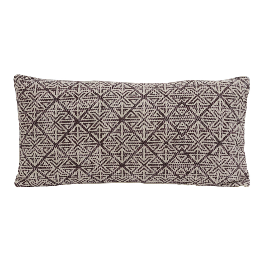 Rhombus Print Cushion