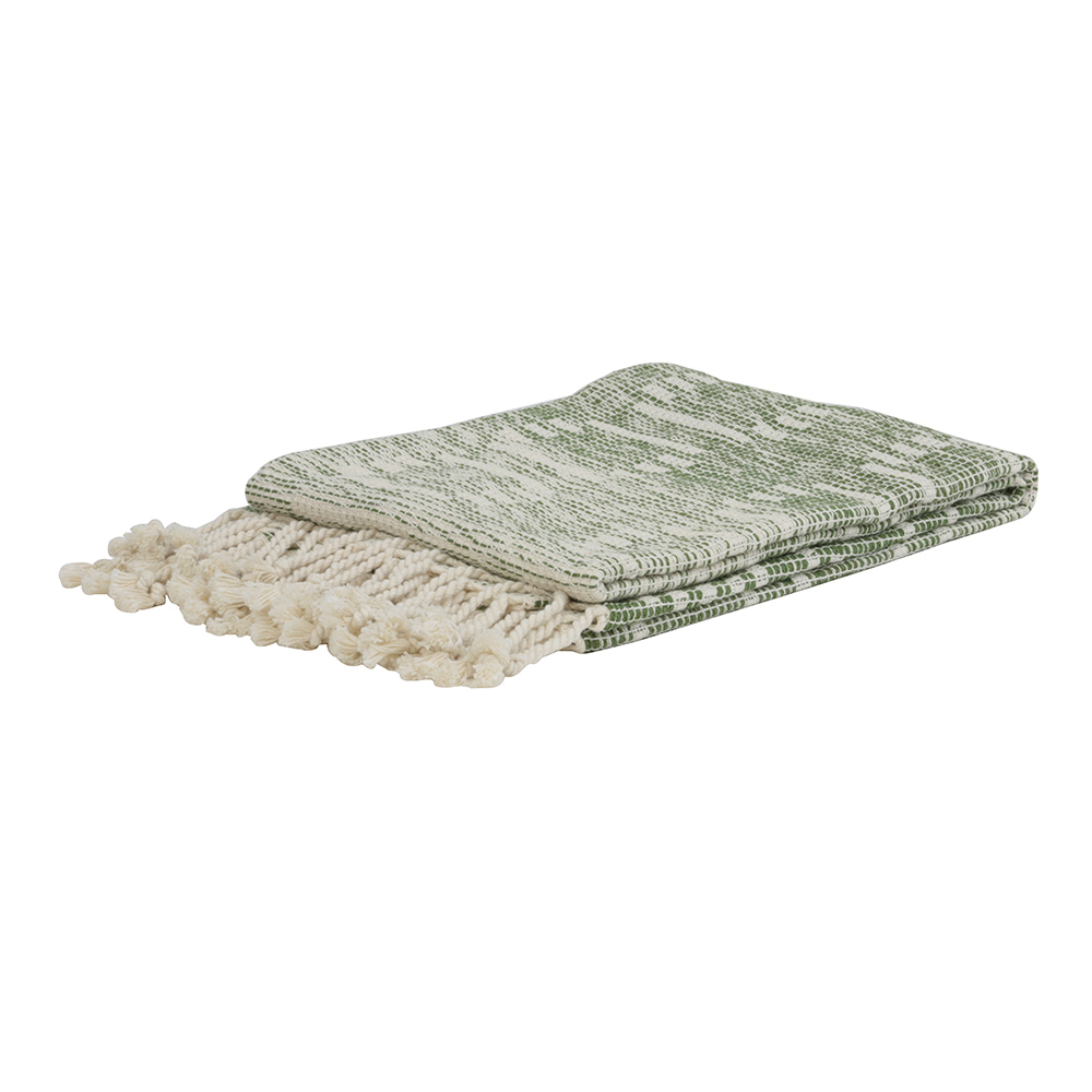 Zobala Natural Plaid Throw