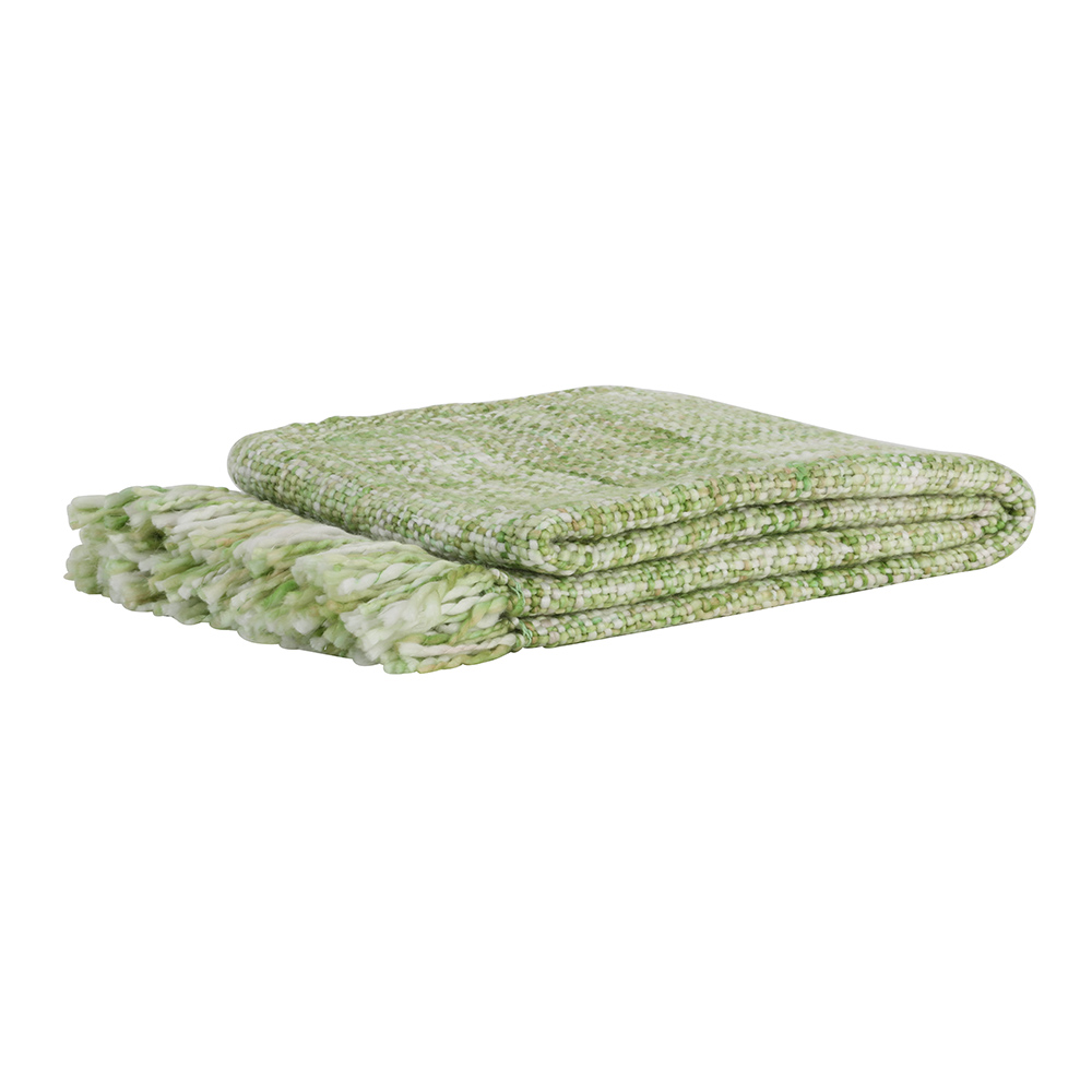 Royka Natural Plaid Throw