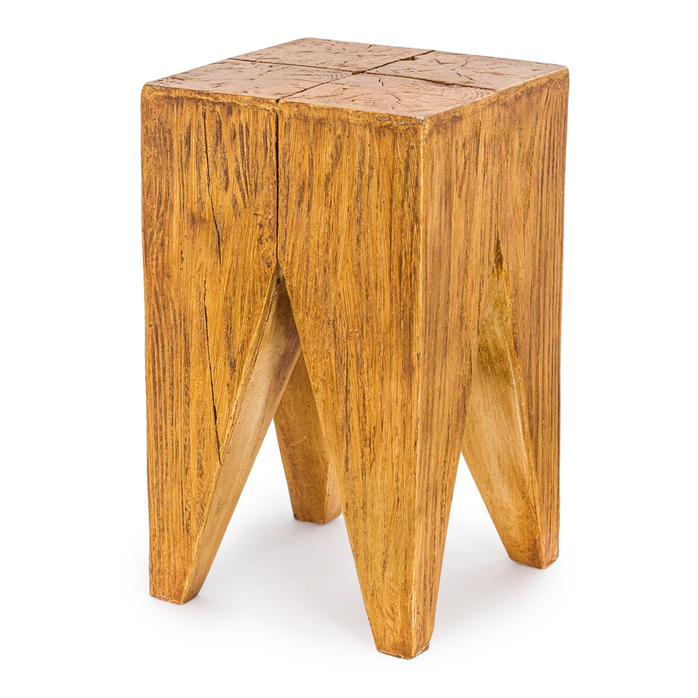 Wood Effect Stool / Side Table