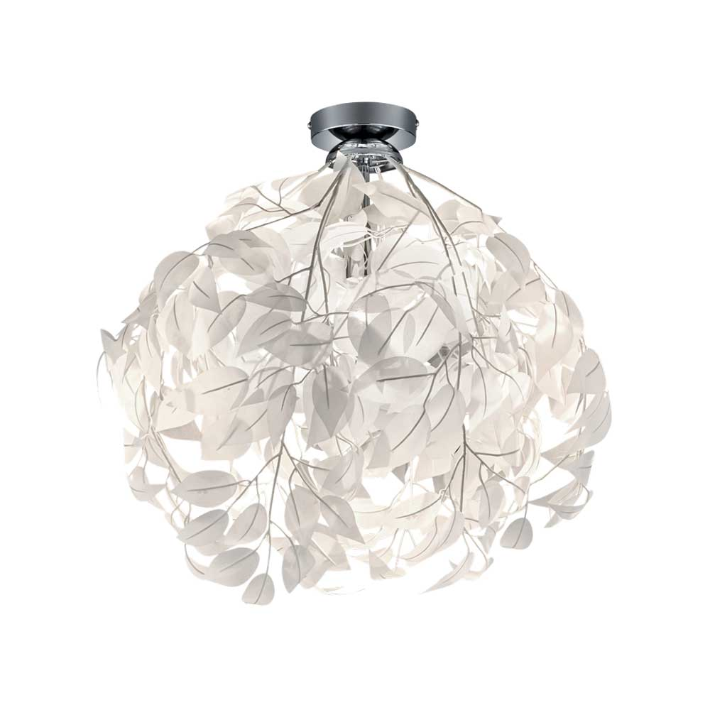 Leavy Small White Leaf Ceiling Light