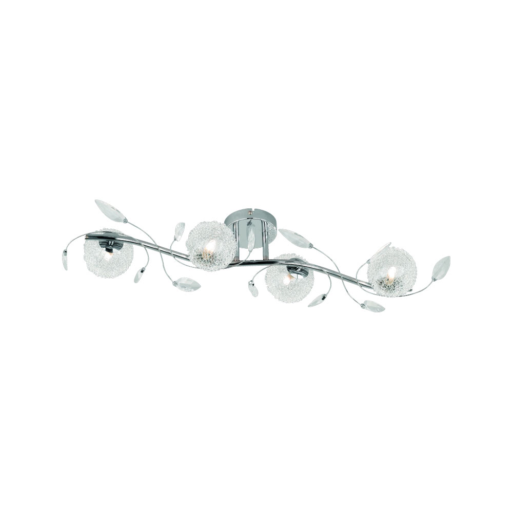 Wire Four Leavy Ceiling Light