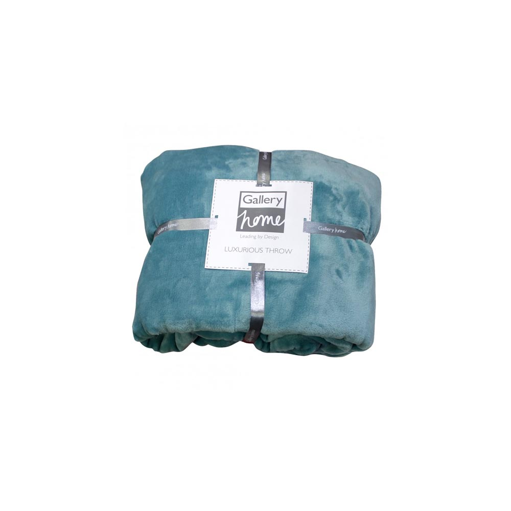 Turquoise Flannel Fleece Throw