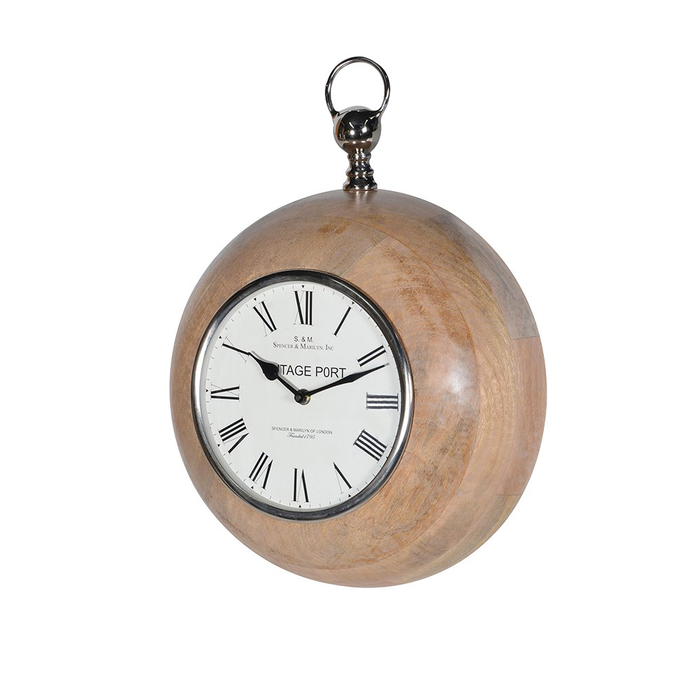 Wood Surround Wall Clock