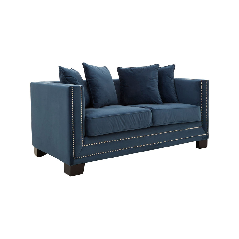 Sofia Midnight Blue 2-Seat Sofa