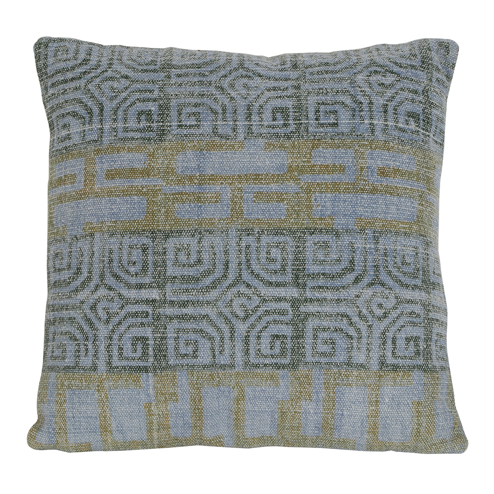 Grey Printed Cushion