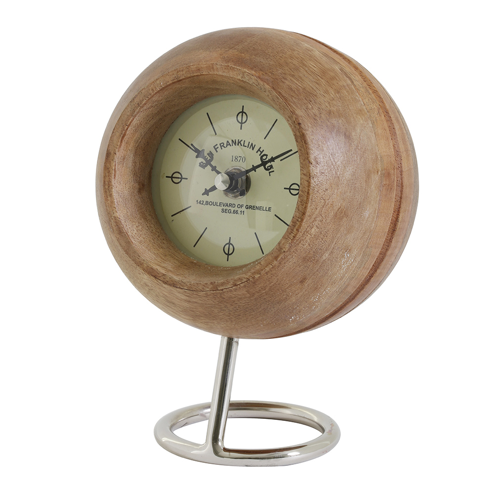 Leeston Wooden Clock