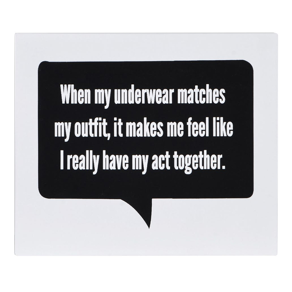 """When My Underwear"" Wall Sign"