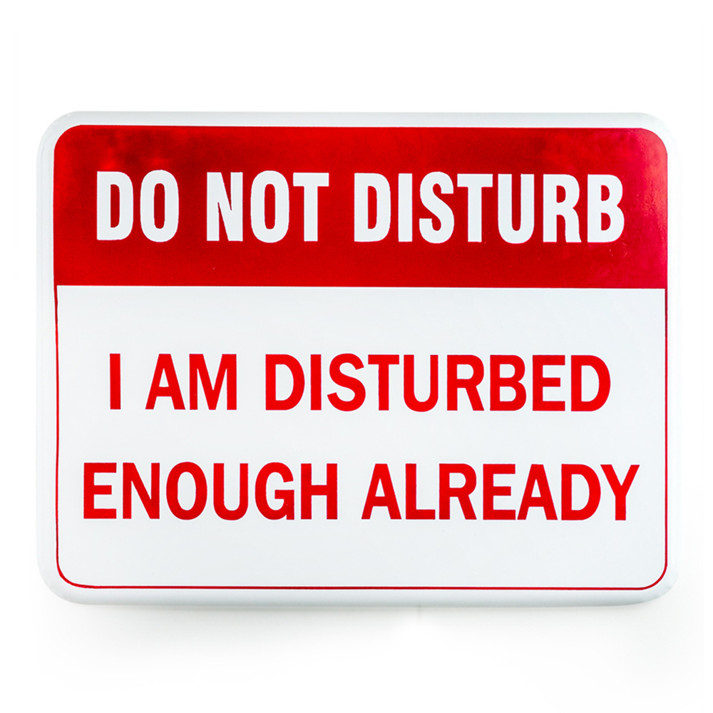 'Do Not Disturb' Wall Plaque