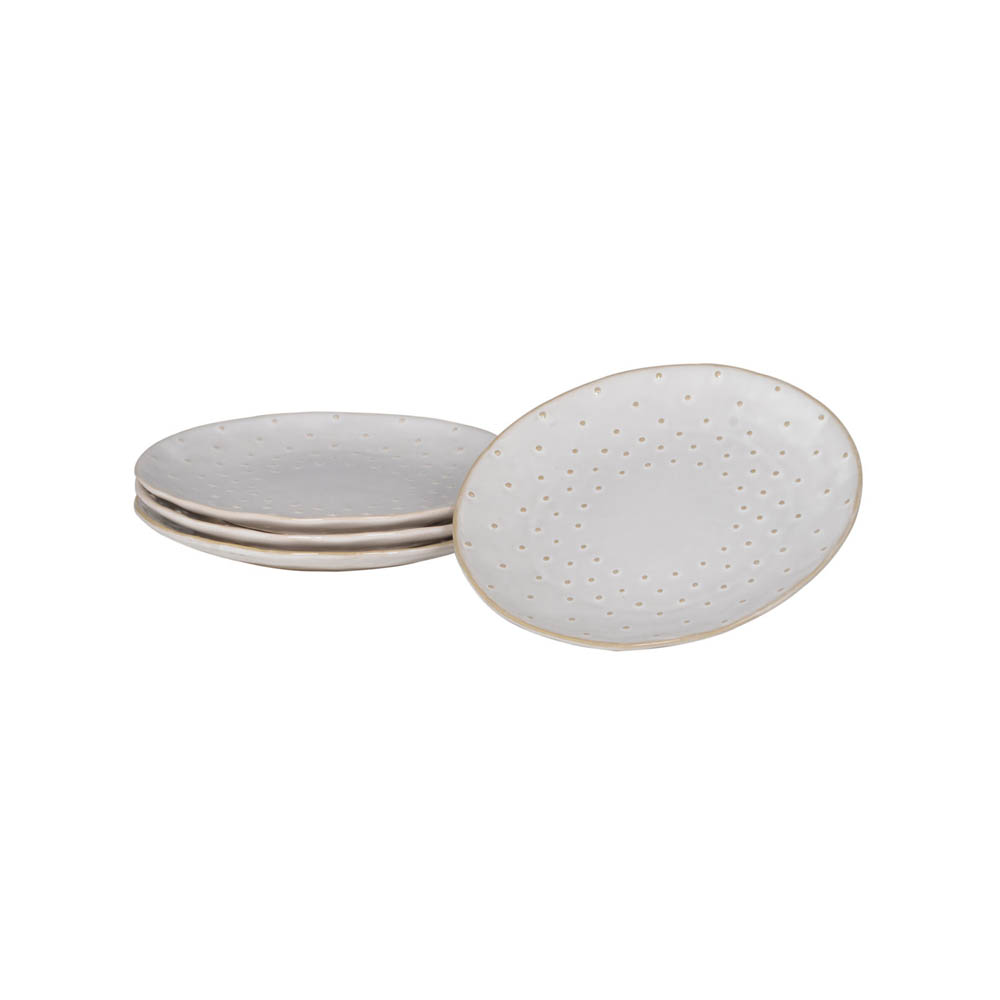 Set of 4 Small Dotted Plates