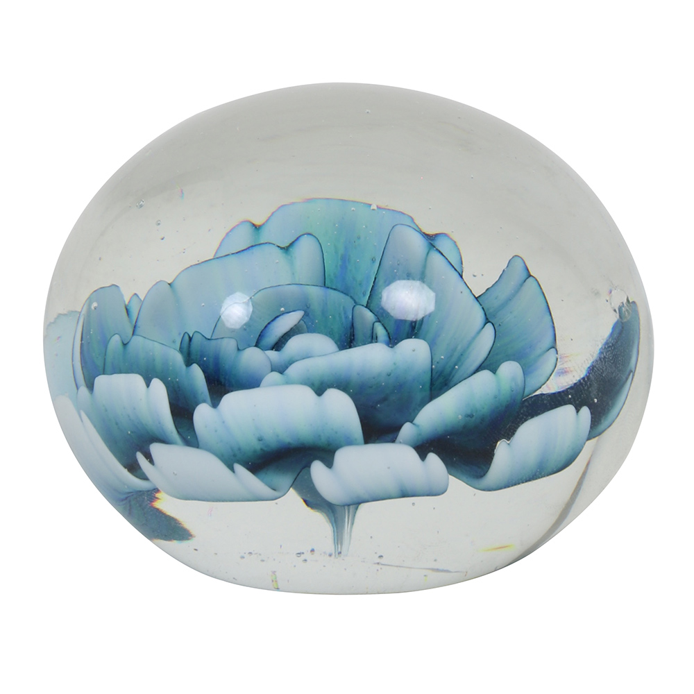 Blue Green Flower Ornament