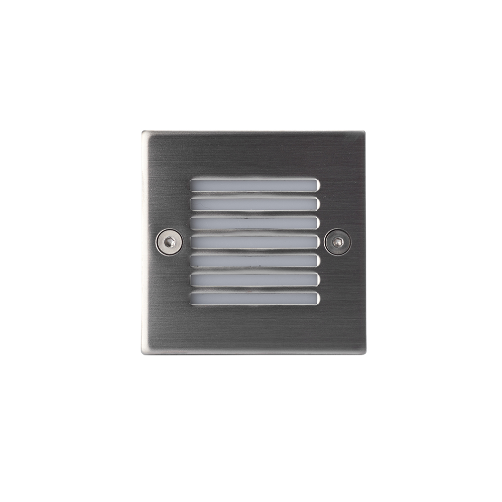 Brushed Aluminium LED Square Wall Light