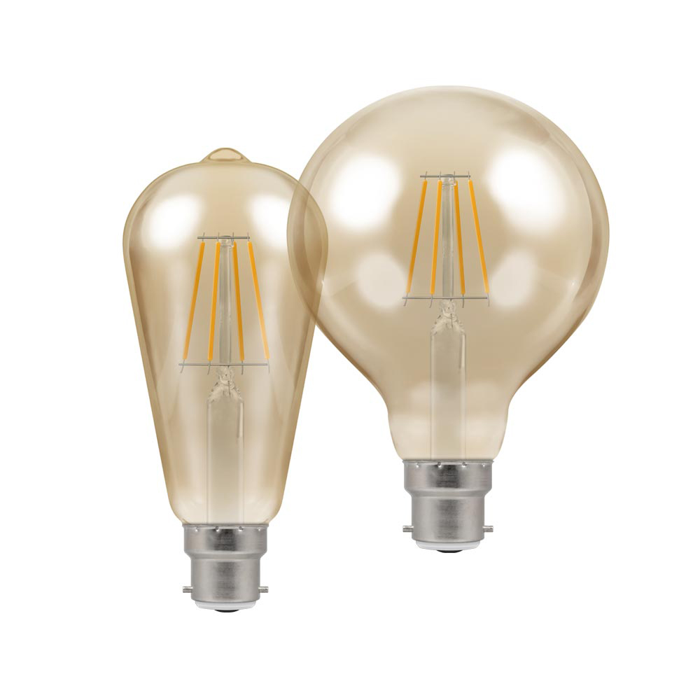 LED Filament Antique Bronze Dimmable BC