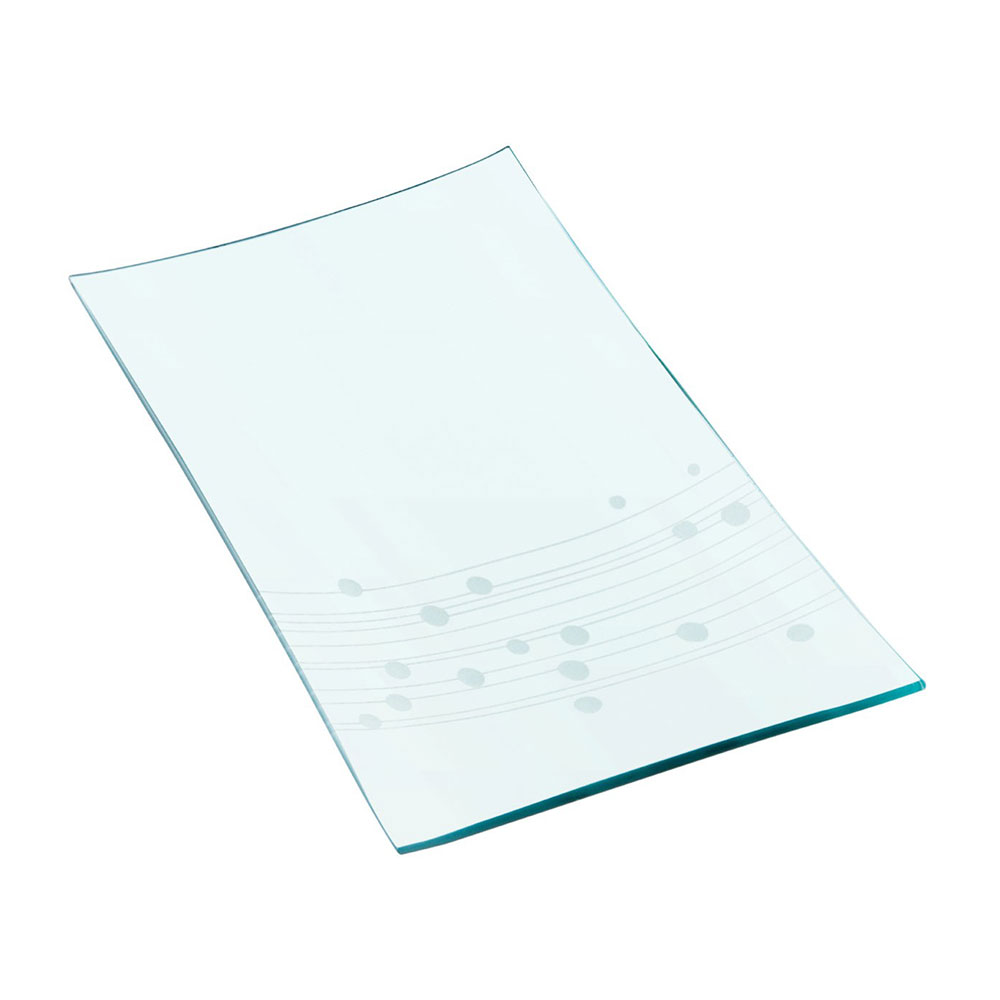 Large Etched Glass Plate