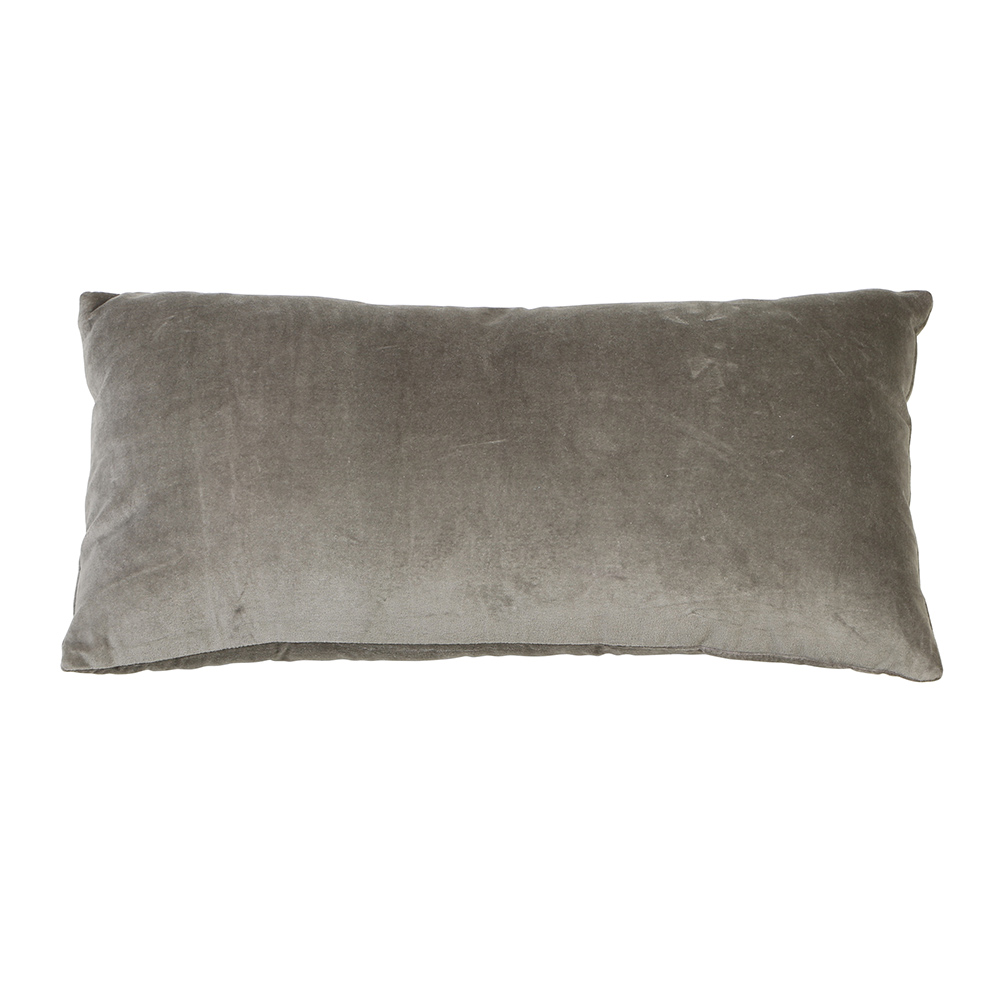 Khios Velvet Silver/Grey Cushion