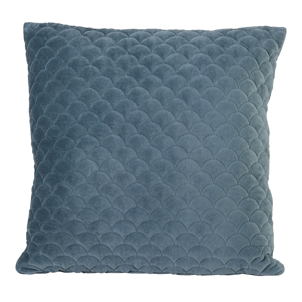 Shell Velvet Blue Cushion