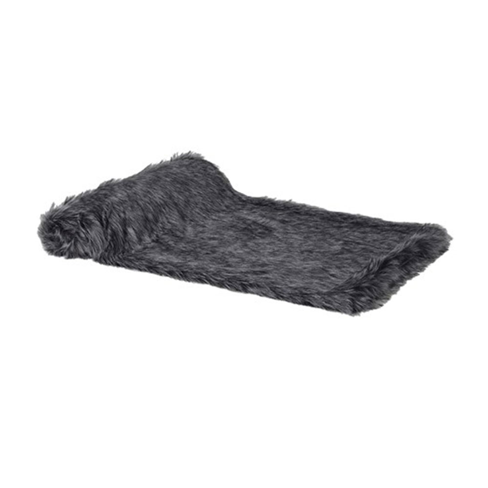 Black furry Throw