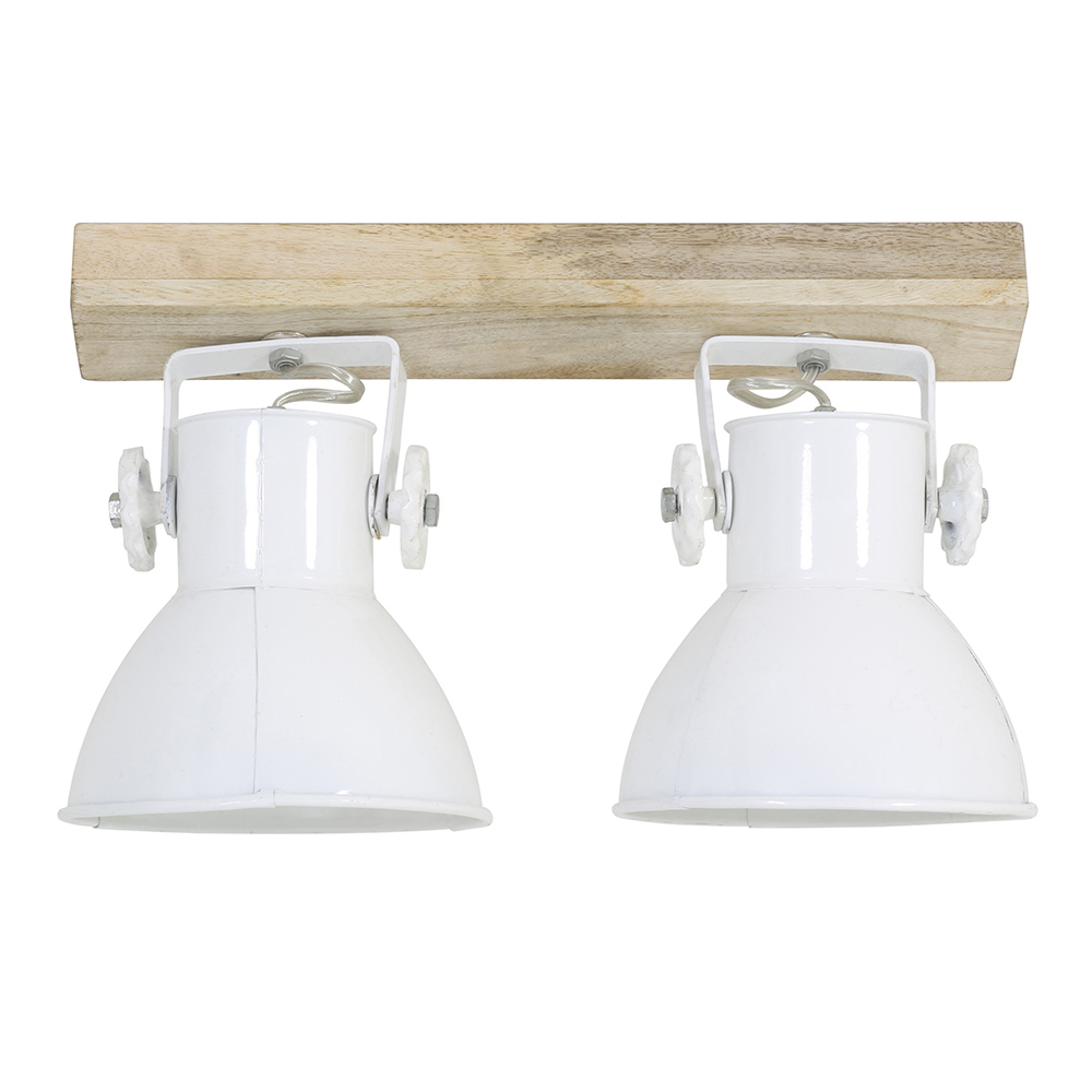 Elay Two Lamp Wall Light - White