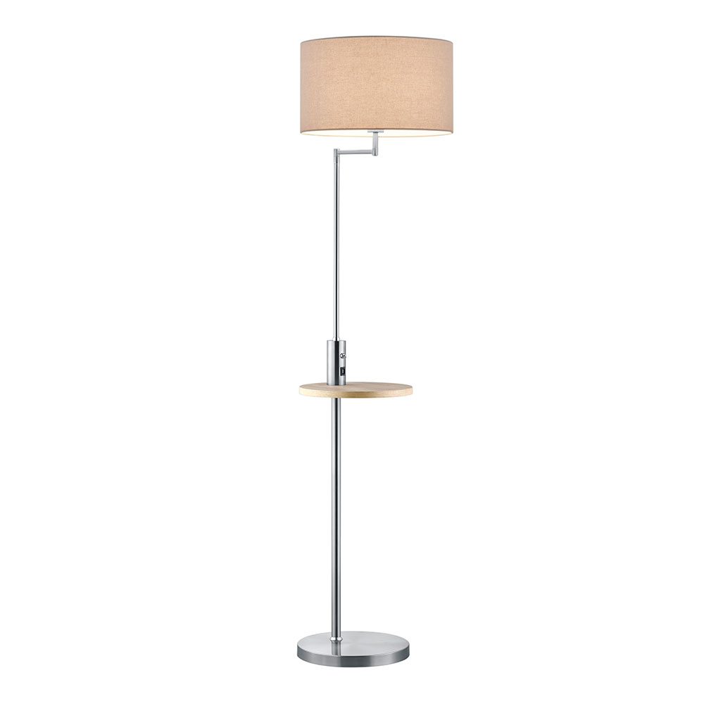 Nickel Matte Claas Floor Lamp