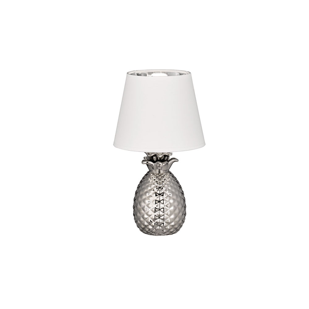 Small White Pineapple Table Lamp