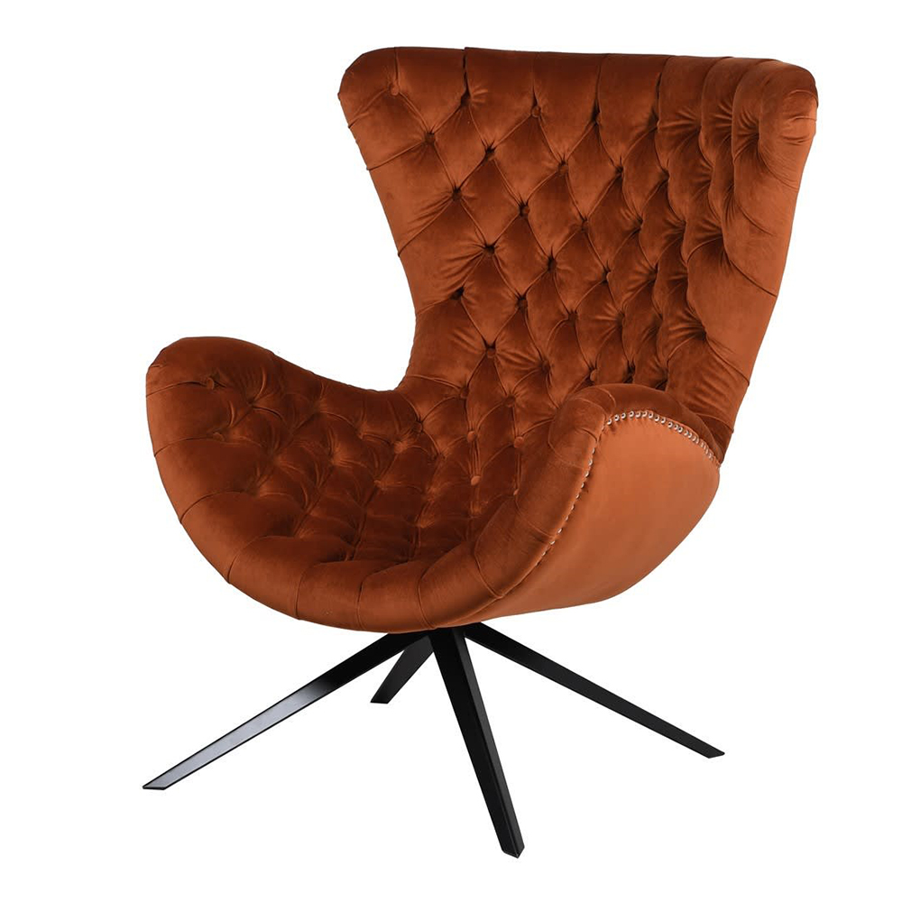 Burnt Orange Buttoned Chair