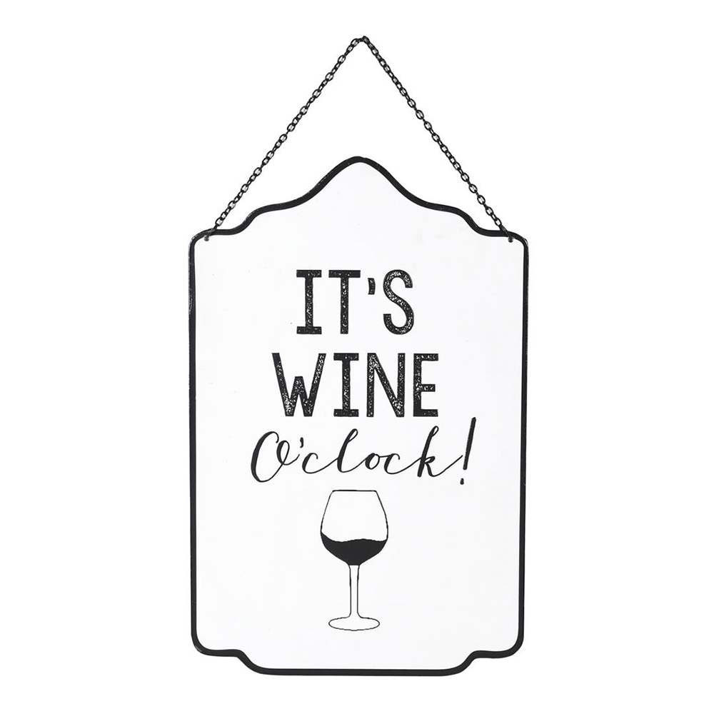 Wine O'Clock Wall Sign