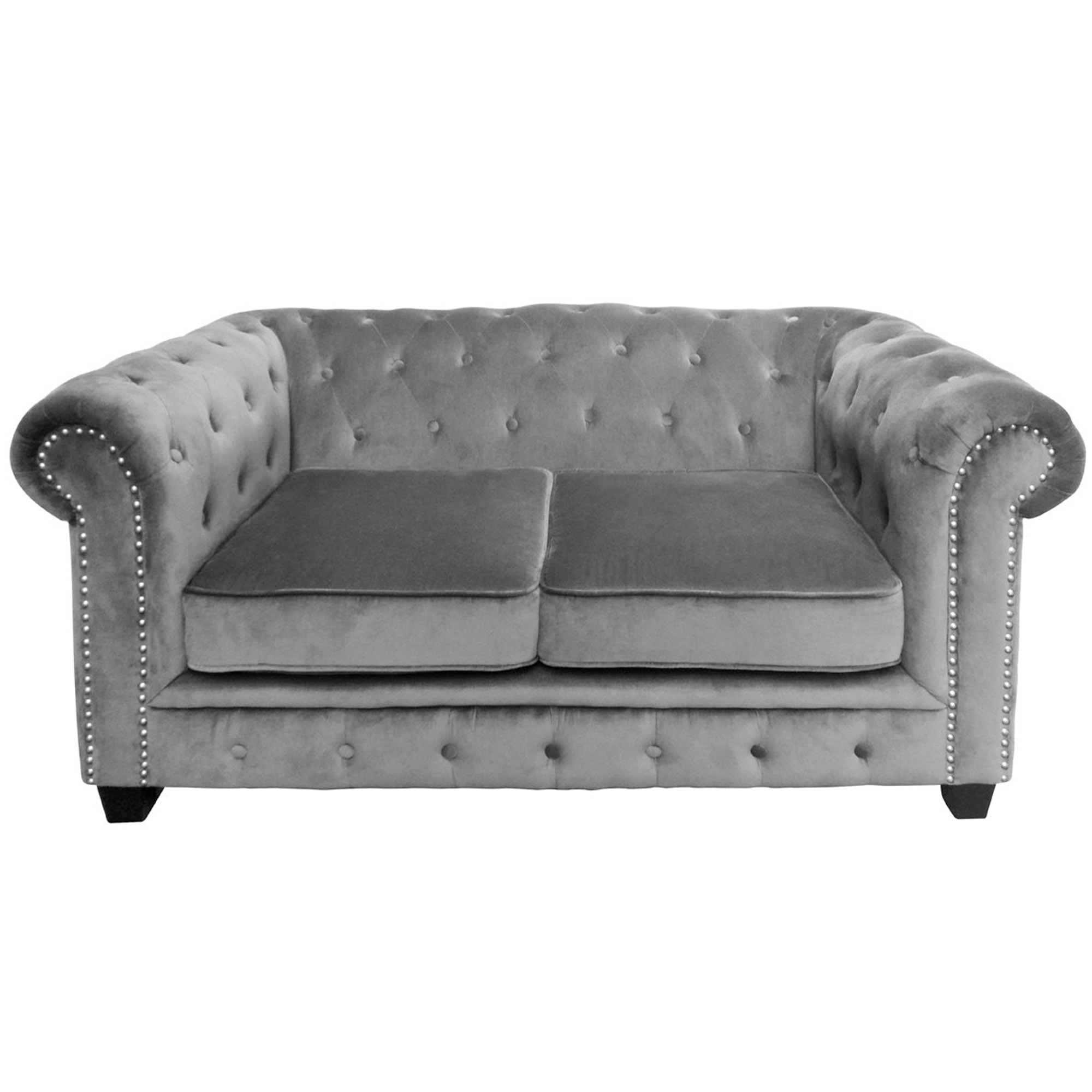 Grey Regents Park Sofa 2 Seater