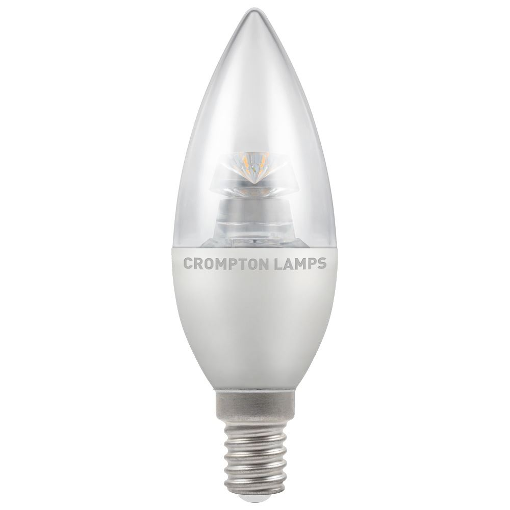 LED Clear Dimmable Candle SES-E14