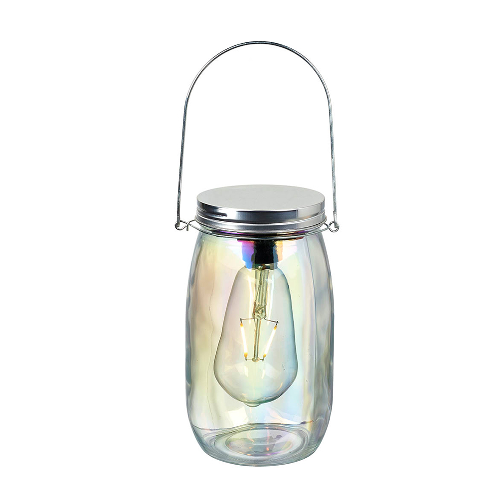 Large Clear Lustre Glass Jar With LED