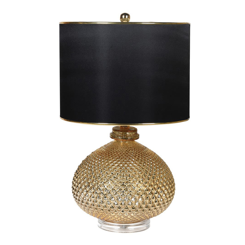 Gold Pineapple Lamp with Shade