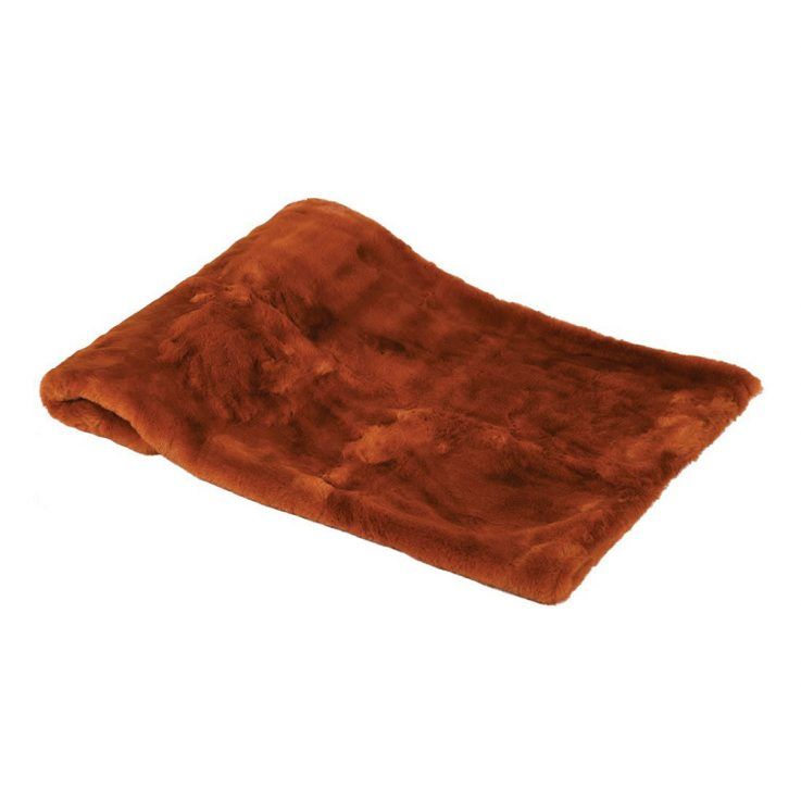 Burnt Amber Faux Throw