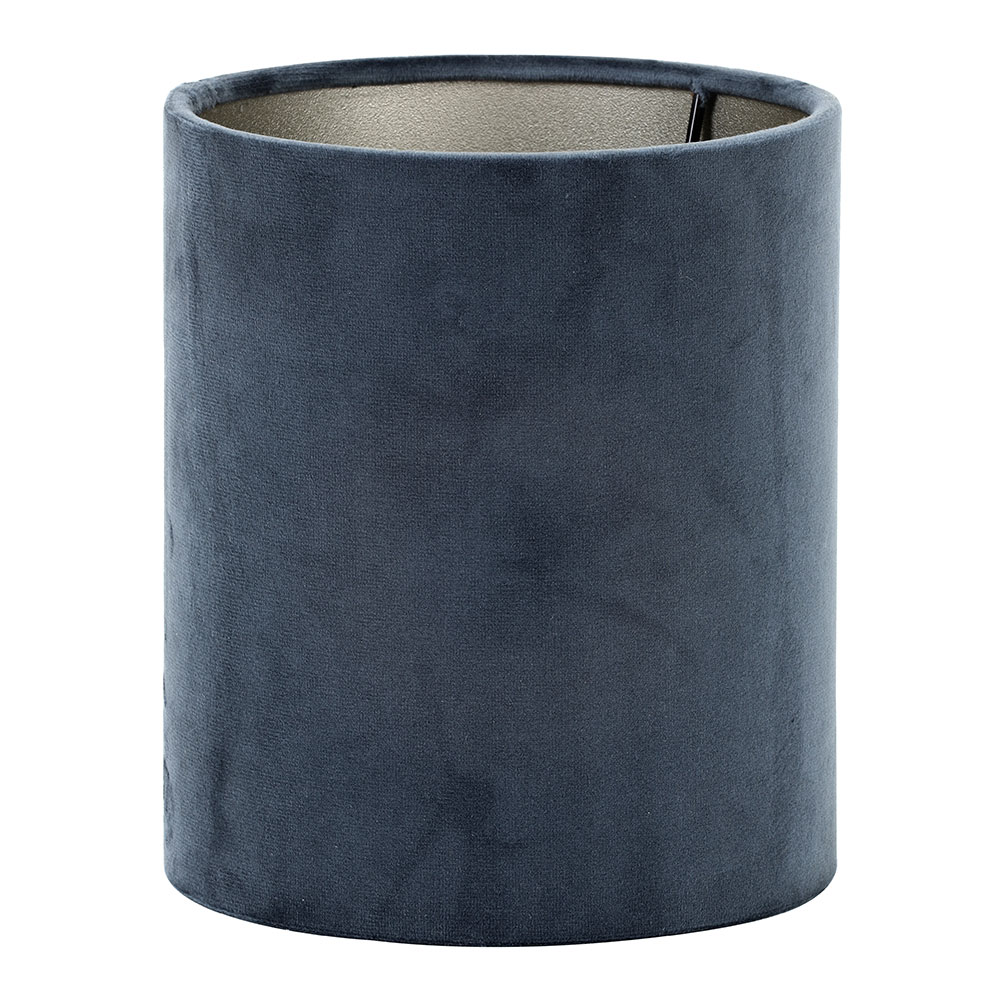 Tall Velours Dusty Blue Textile Shade