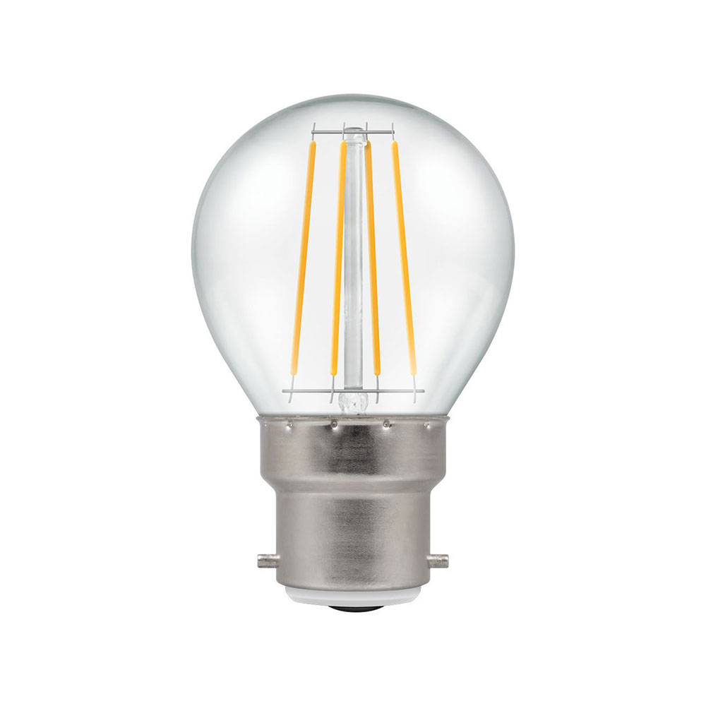 LED Filament Clear Dimmable Round BC-B22d
