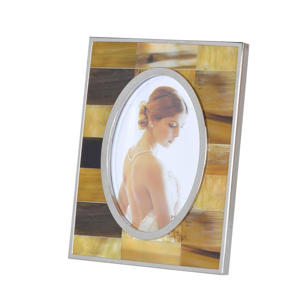Small Faux Horn Photo Frame