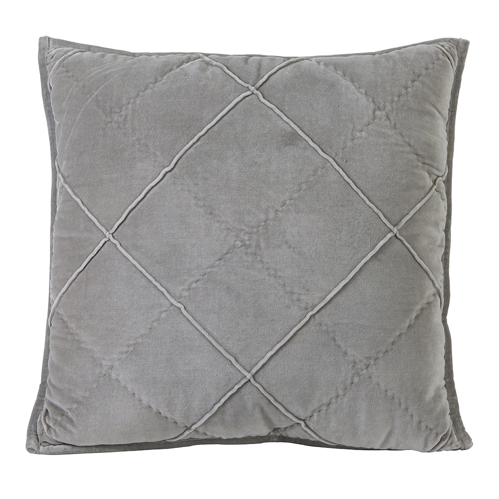 Velvet Cement Grey Cushion