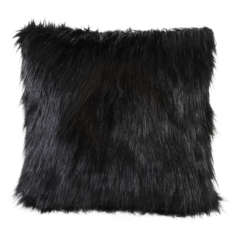 Fluffy Black Pillow