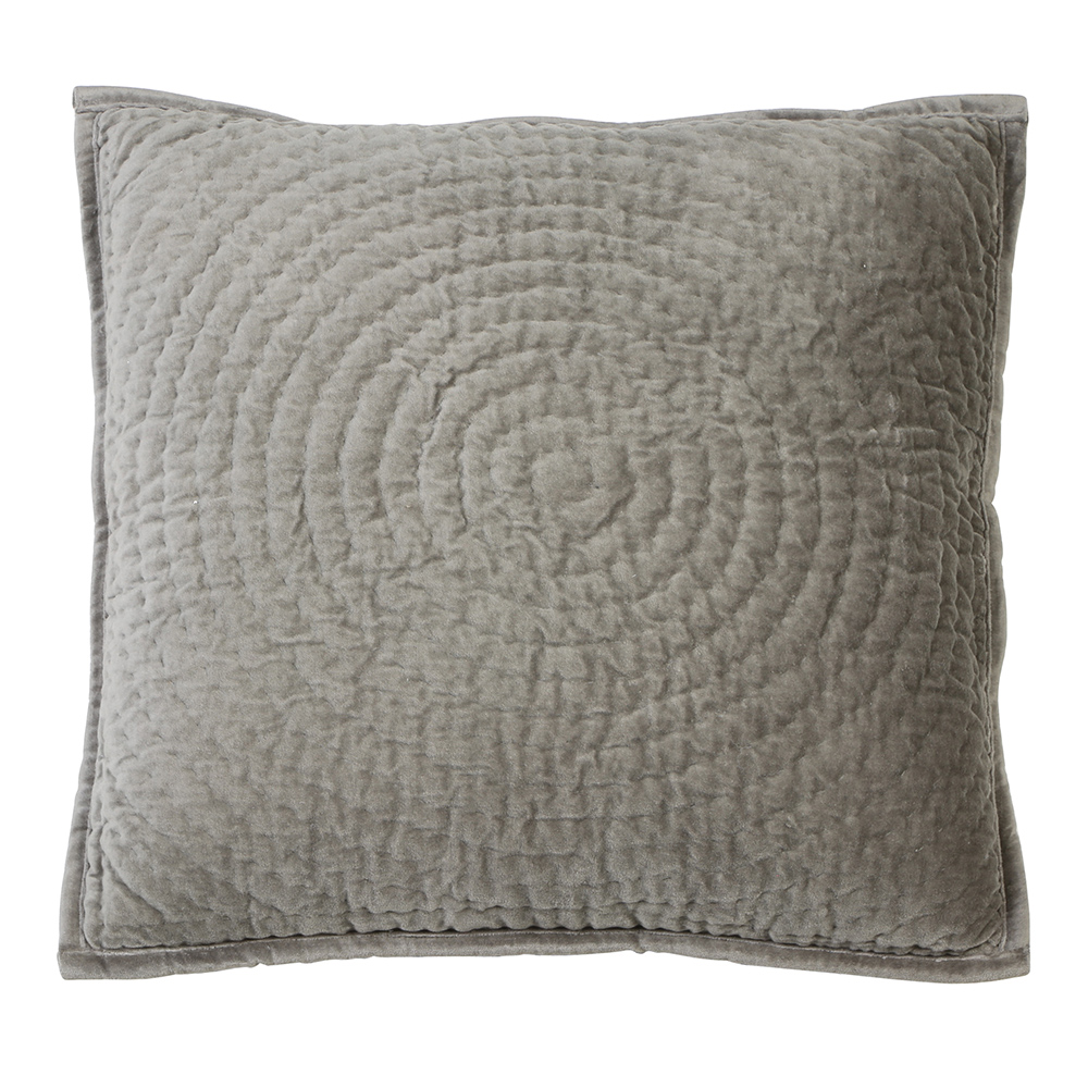 Circle Grey Velvet Pillow