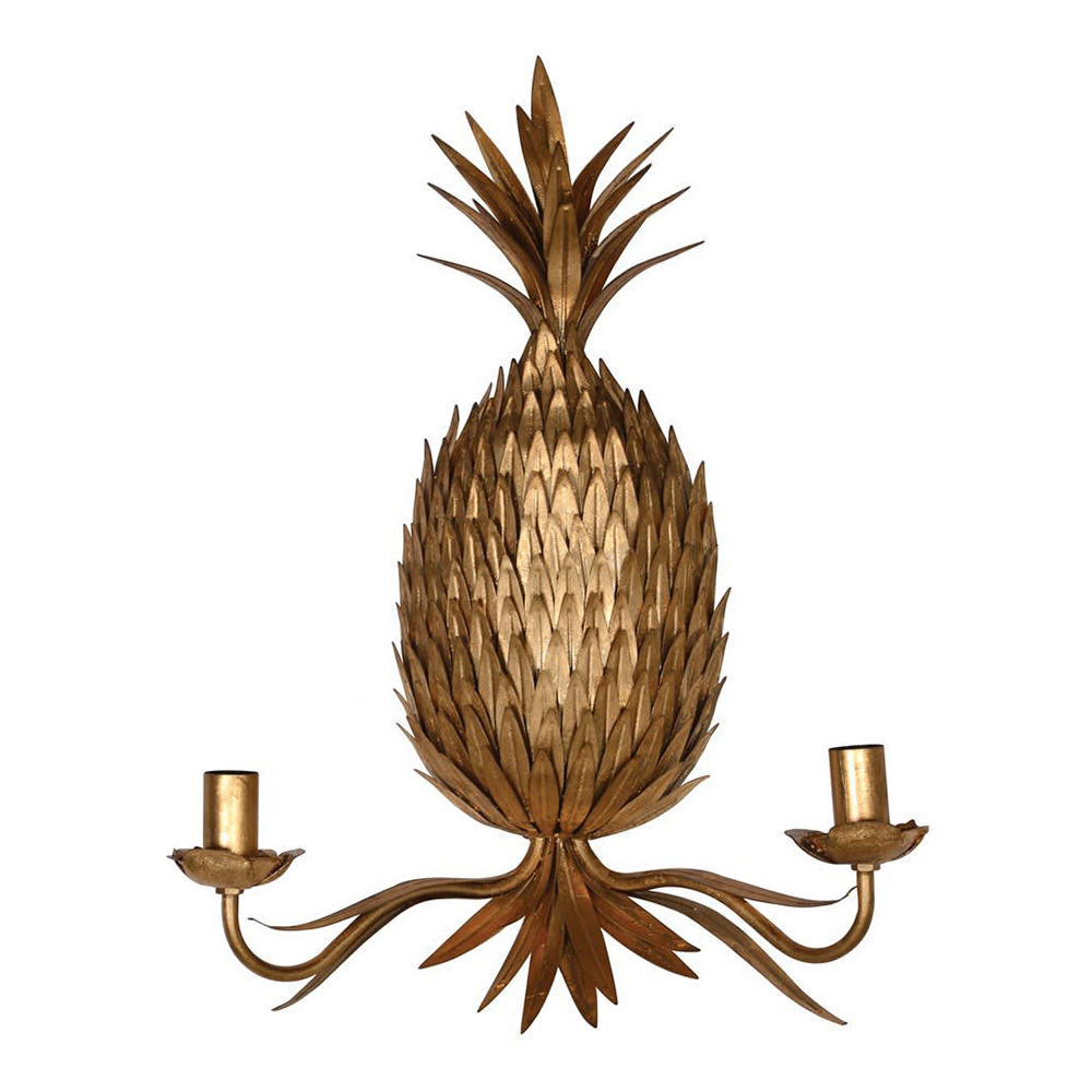 Golden Pineapple Wall Sconce