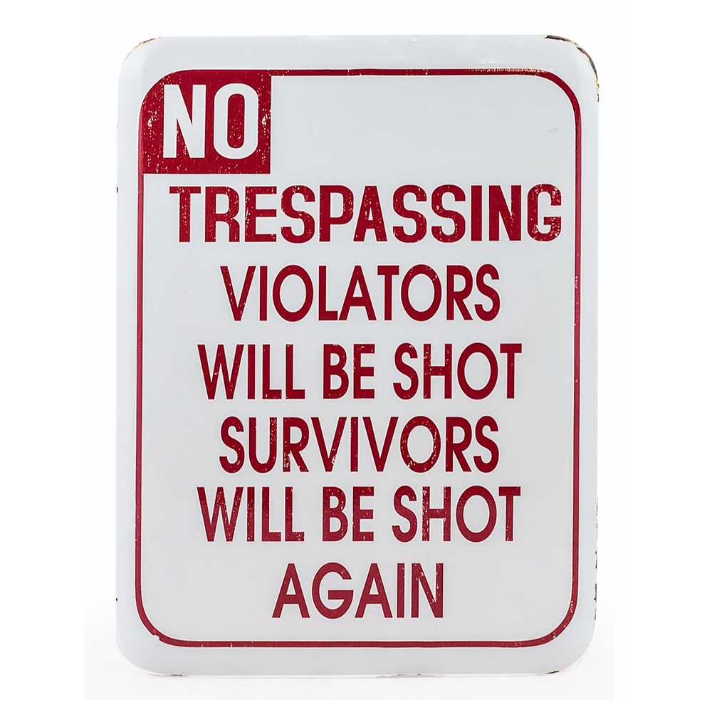 Trespass Wall Sign